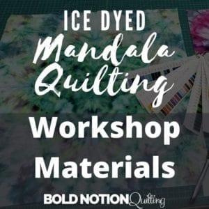 Ice Dye Mandala Class Items